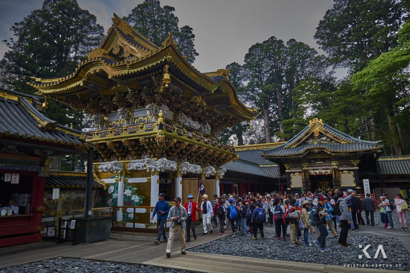 The Yomeimon Gate - one of the most beautiful gates of Japan with over 500 wood carvings