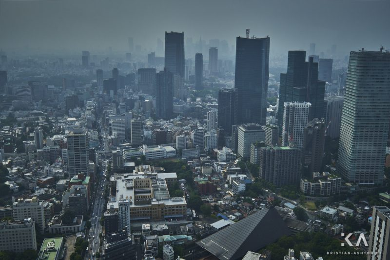 View across Tokyo from the Tokyo Tower observation deck