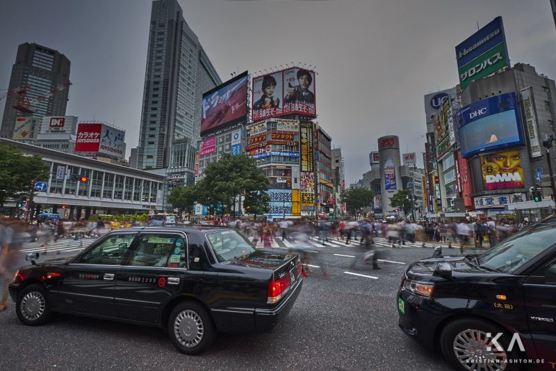 Shibuya Crossing - approximately 15,000 pedestrians cross here during rush hour!
