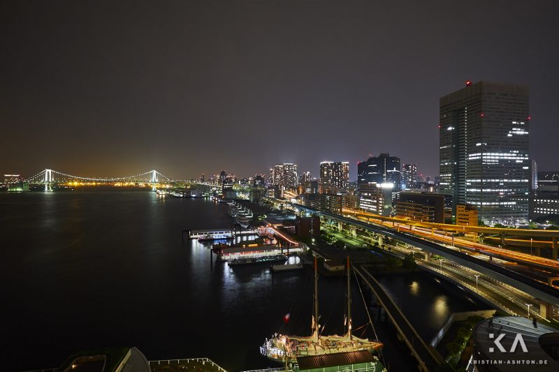 View of Tokyo Bay from the window of our hotel suite