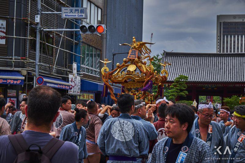 Festival parade near the Senso-ji temple