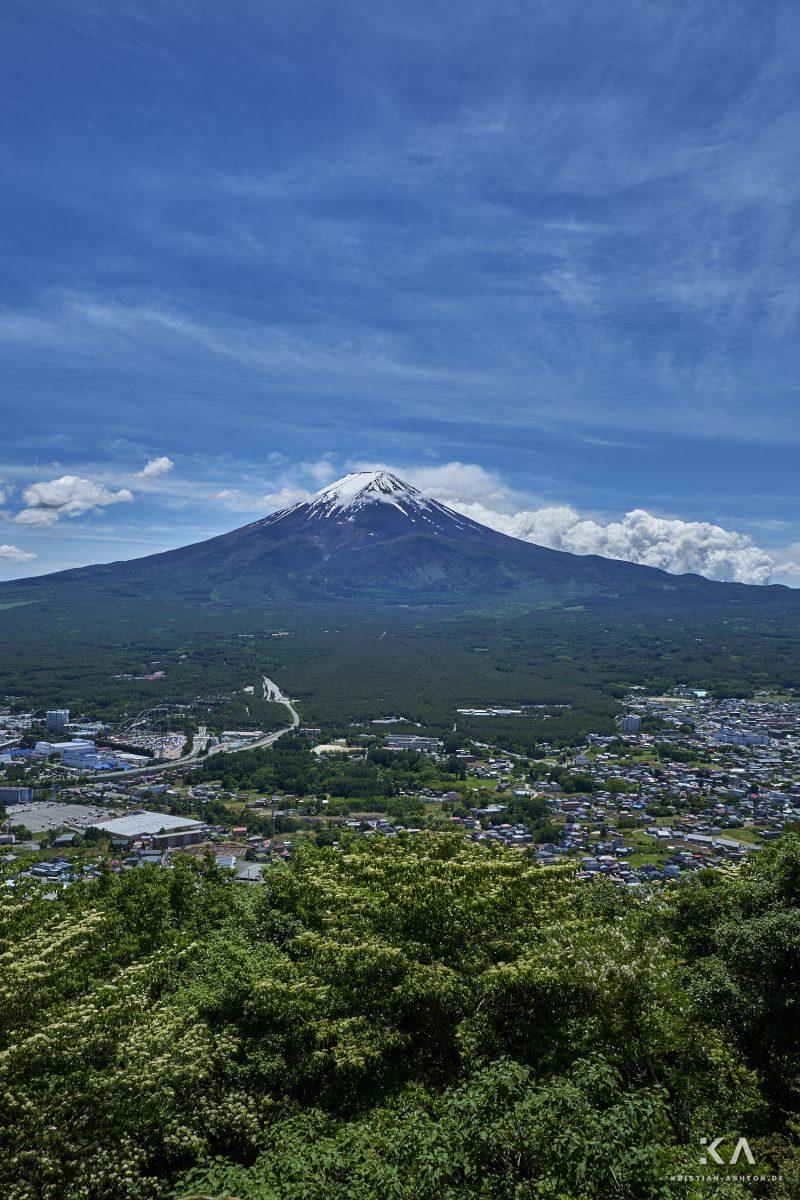 View of the beautiful Fujisan (Mt. Fuji) from Tenjozan Park