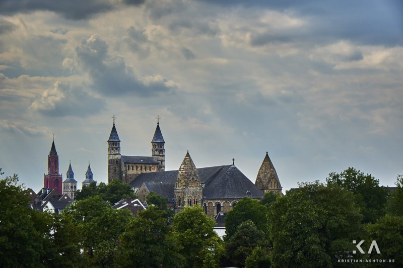 View of the Basilica of Our Lady from the Hoge Brug bridge