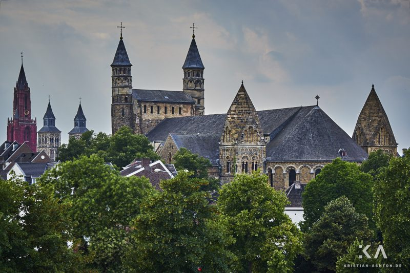 View towards the Basilica of Our Lady from the Hoge Brug bridge