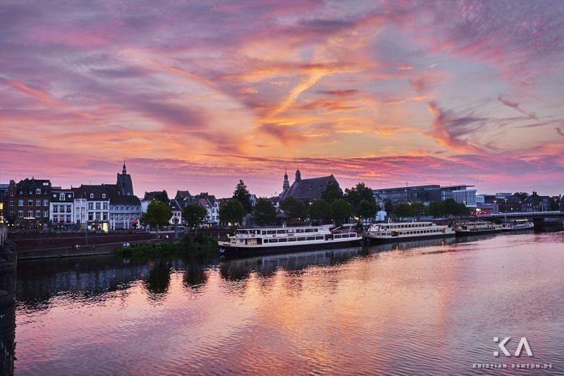 Sunset over Maastricht