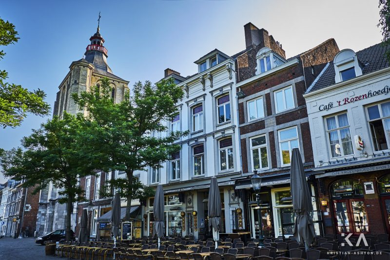 Buildings around the old centre of Maastricht