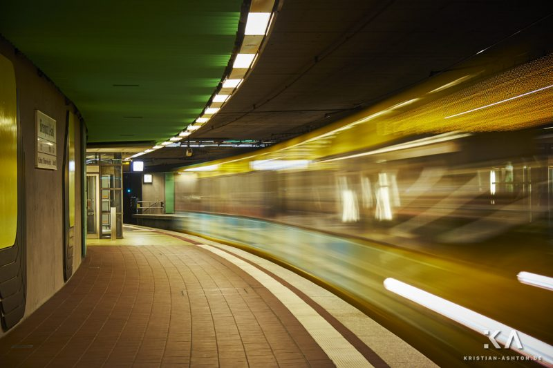 The Stuttgart underground/tramway at station Börsenplatz