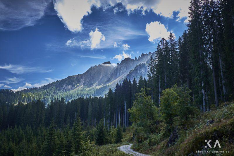 Hike to the Latemar Labyrinth-Climb