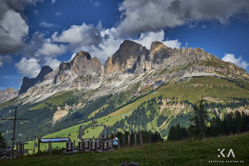 Fantastic views from Carezza Pass
