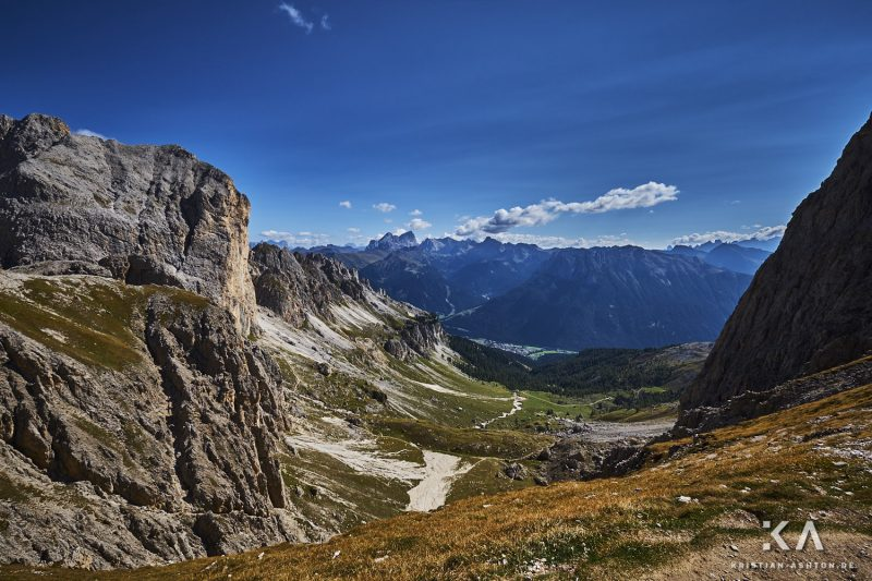 The Rosengarten Vajolon Pass