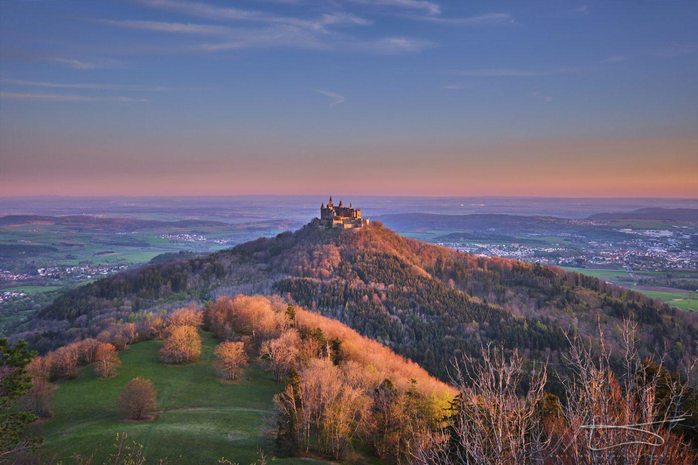 Sunrise over Hohenzollern castle