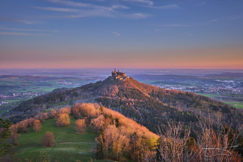 Sunrise over Hohenzollern castle