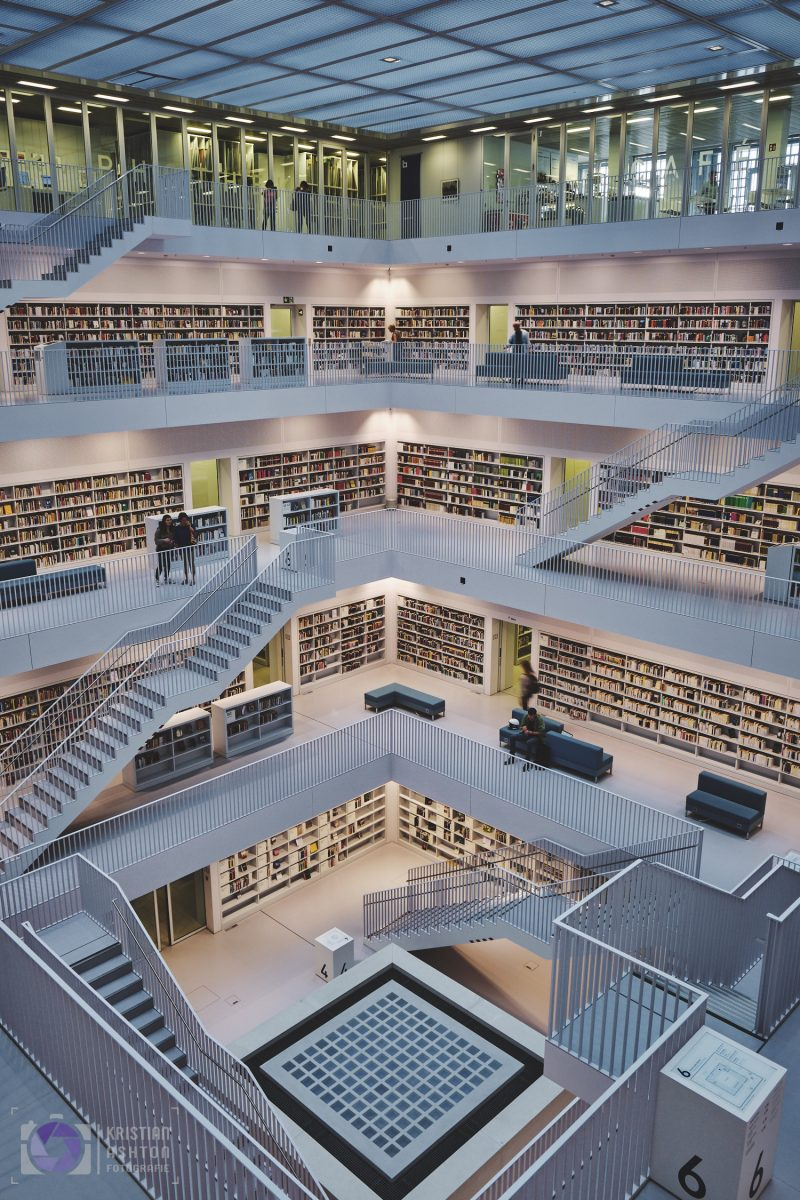 The gallery hall of the Stuttgart city library